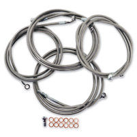 LA Choppers Stainless Cable/Brake Line Kit for 12″-14″ Bars on Models with ABS