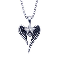 Wildthings Stainless Steel Necklace Star Wings with 20″ Chain