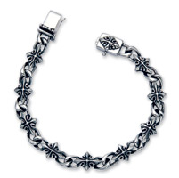 Wildthings Stainless Steel Antique Cross 7-1/2″ Bracelet