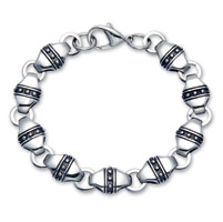 Wildthings Stainless Steel Two Tone 8-1/4″ Bracelet
