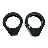 Black 49mm Turn Signal Fork Clamps