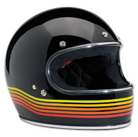 Biltwell Inc. Gringo LE Spectrum Gloss Black/Orange Full Face Helmet