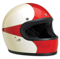 Biltwell Inc. Gringo LE Scallop Antique White/Red Full Face Helmet