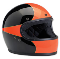 Biltwell Inc. Gringo LE Scallop Gloss Black/Orange Full Face Helmet