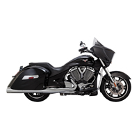 Vance & Hines Hi Output Slip Ons Chrome with Chrome End Caps