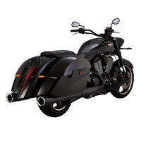 Vance & Hines Hi Output Slip Ons Black with Chrome End Caps