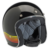 Biltwell Inc. Bonanza LE Spectrum Gloss Black/Orange Open Face Helmet