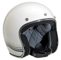 Biltwell Inc. Bonanza LE Specturm Gloss White/Silver Open Face Helmet
