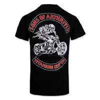 Sons of Arthritis Titanium Chapter Black Short Sleeve T-shirt