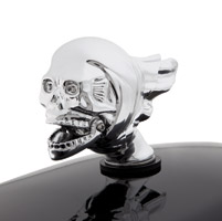 National Motorcycle Museum Chrome Flying Skull Fender Ornament