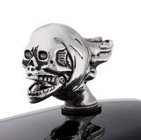 National Motorcycle Museum Patina Flying Skull Fender Ornament