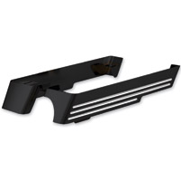 Cycle Smiths Black Machined Billet Saddlebag Extension with Right Side Cut-Out
