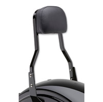 Cobra Black 14″ Short Square Sissy Bar with Pad