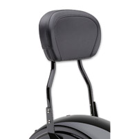 Cobra Black 17″ Standard Round Sissy Bar with Pad