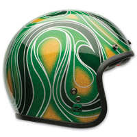 Bell Custom 500 Chemical Candy Mean Green Open Face Helmet