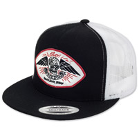Roland Sands Design Freedom Black/White Trucker Cap