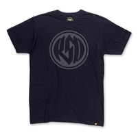 Roland Sands Design Logo Black T-shirt w/Gray Ink