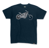 Roland Sands Design Dirty Deeds Navy T-shirt