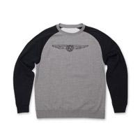 Roland Sands Design 74 Gray/Black Crewneck Sweatshirt