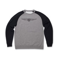 Roland Sands Design 74 Gray/Black Crewneck Sweatshirt