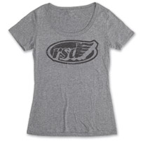 Roland Sands Design Cafe Wing Ladies Heather Gray Scoop Neck Tee