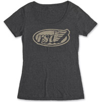 Roland Sands Design Cafe Wing Ladies Black Scoop Neck Tee