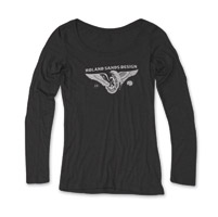 Roland Sands Design Horse Power Ladies Black Long Sleeve Tee