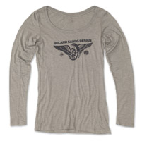 Roland Sands Design Horse Power Ladies Heather Gray Long Sleeve Tee