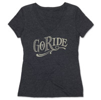 Roland Sands Design Go Ride Ladies Black V-neck Tee