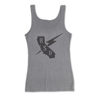 Roland Sands Design Builders Union Ladies Heather Gray Tank