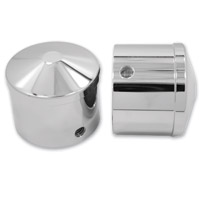 Avon Grips Chrome Custom Contour Axle Nut Covers