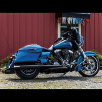 Crusher Maverick Slip On Mufflers Black