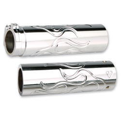 Arlen Ness Chrome Flamed Grips