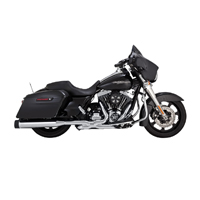 Vance & Hines OverSized 450 Titan Slip Ons Chrome, Black End Caps