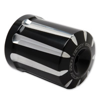Arlen Ness Black Deep Cut Oil Filter Housing