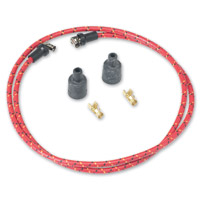 Lowbrow Customs  Red/Black/Yellow Cloth 7mm Spark Plug Wires
