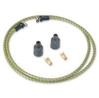 Lowbrow Customs  Green/Yellow Cloth 7mm Spark Plug Wires