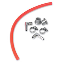 Lowbrow Customs  Red Gas Tank Fuel Sight Gauge Kit