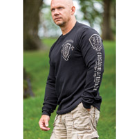 J&P Cycles® Custom Wings Thermal Black Long-sleeve T-shirt