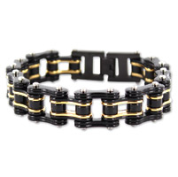 Kodiak  Black/Gold Chain Bracelet