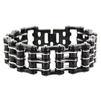 Kodiak Black/Silver Chain Bracelet