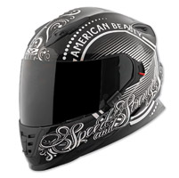 Speed and Strength SS1600 American Beauty Black/Silver Full Face Helmet