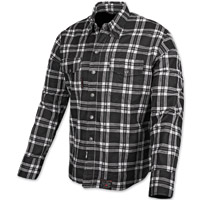 Speed and Strength Black Nine Black/White Flannel Moto Jacket