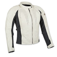 Speed and Strength Speed Society Ladies Cream Leather Jacket
