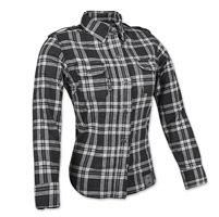 Speed and Strength Women's Smokin' Aces Black/White Flannel Jacket