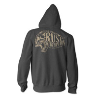 Speed and Strength Rust and Redemption Charcoal Heather Full Zip Hoodie