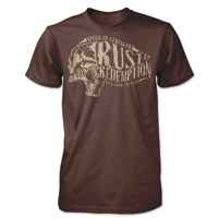 Speed and Strength Rust and Redemption Brown Heather T-shirt