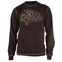 Speed and Strength Rust and Redemption Brown Thermal Long Sleeve Tee