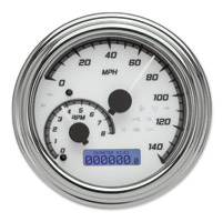 Dakota Digital White/Gray MVX-2004 Series Analog Gauge System with Chrome Bezel