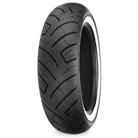 Shinko 777 HD 180/65-16 Wide Whitewall Rear Tire